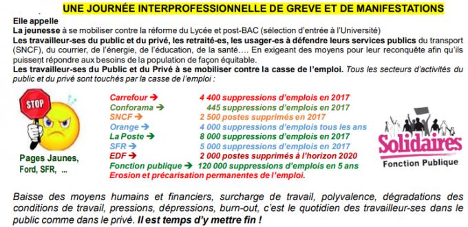 22 Mai : UNE JOURNÉE INTERPROFESSIONNELLE DE GREVE ET DE MANIFESTATIONS